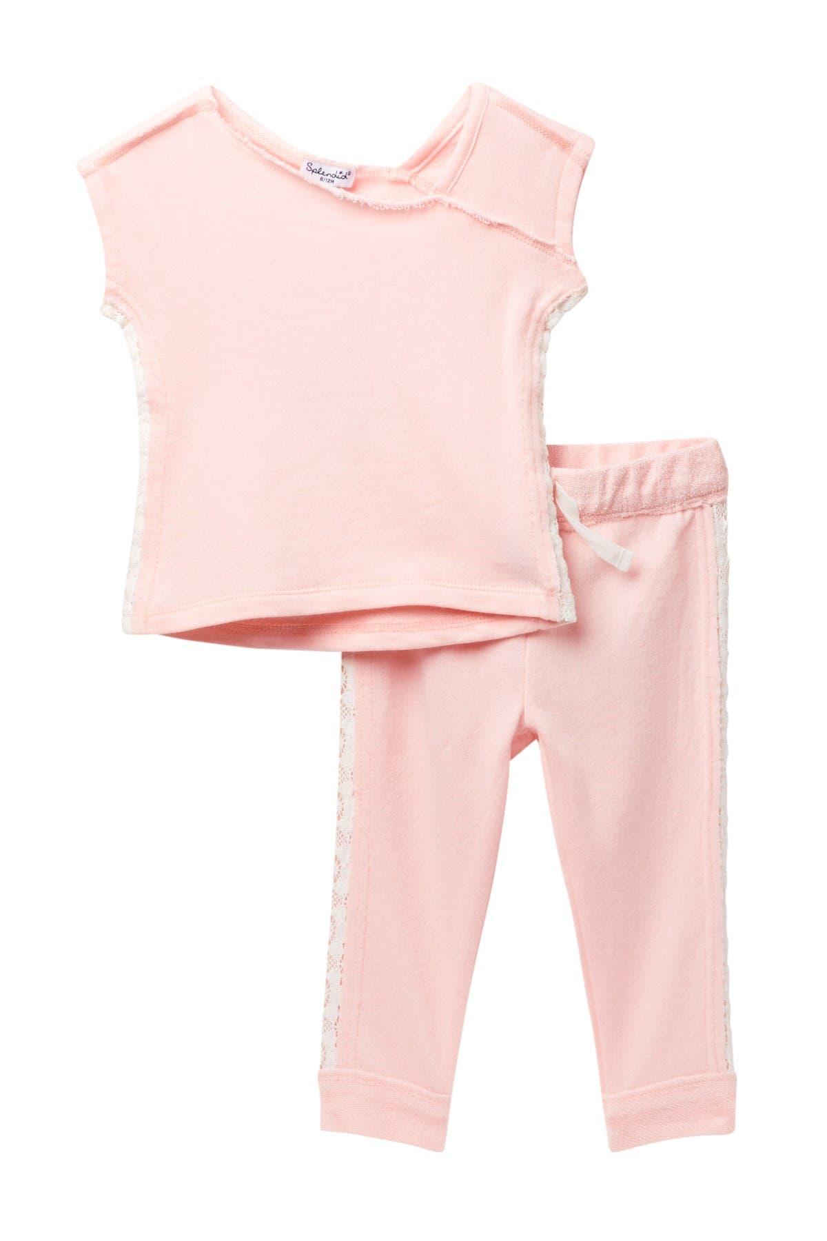 Image of Splendid Lace Sweatshirt Set
