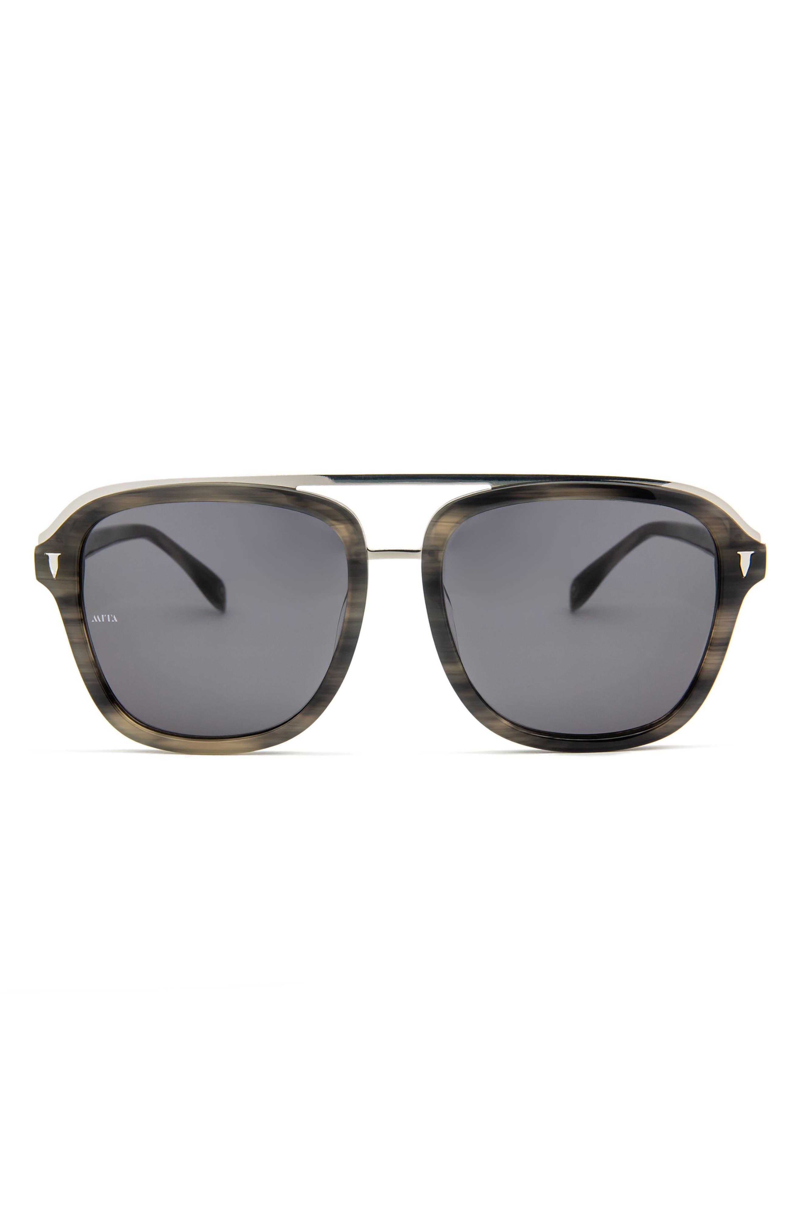 Lincoln 57mm Square Sunglasses