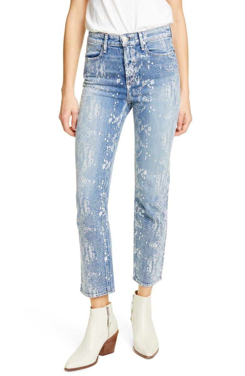 RAG & BONE Nina High Waist Ankle Cigarette Jeans, Main, color, 100