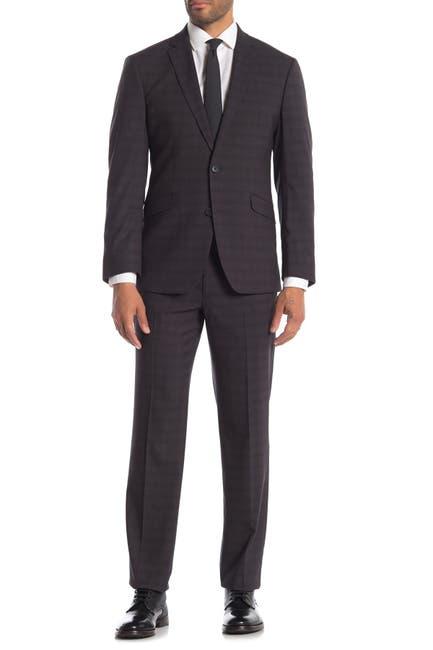Image of Kenneth Cole Reaction Plaid Techni-Cole Performance Slim Fit Suit