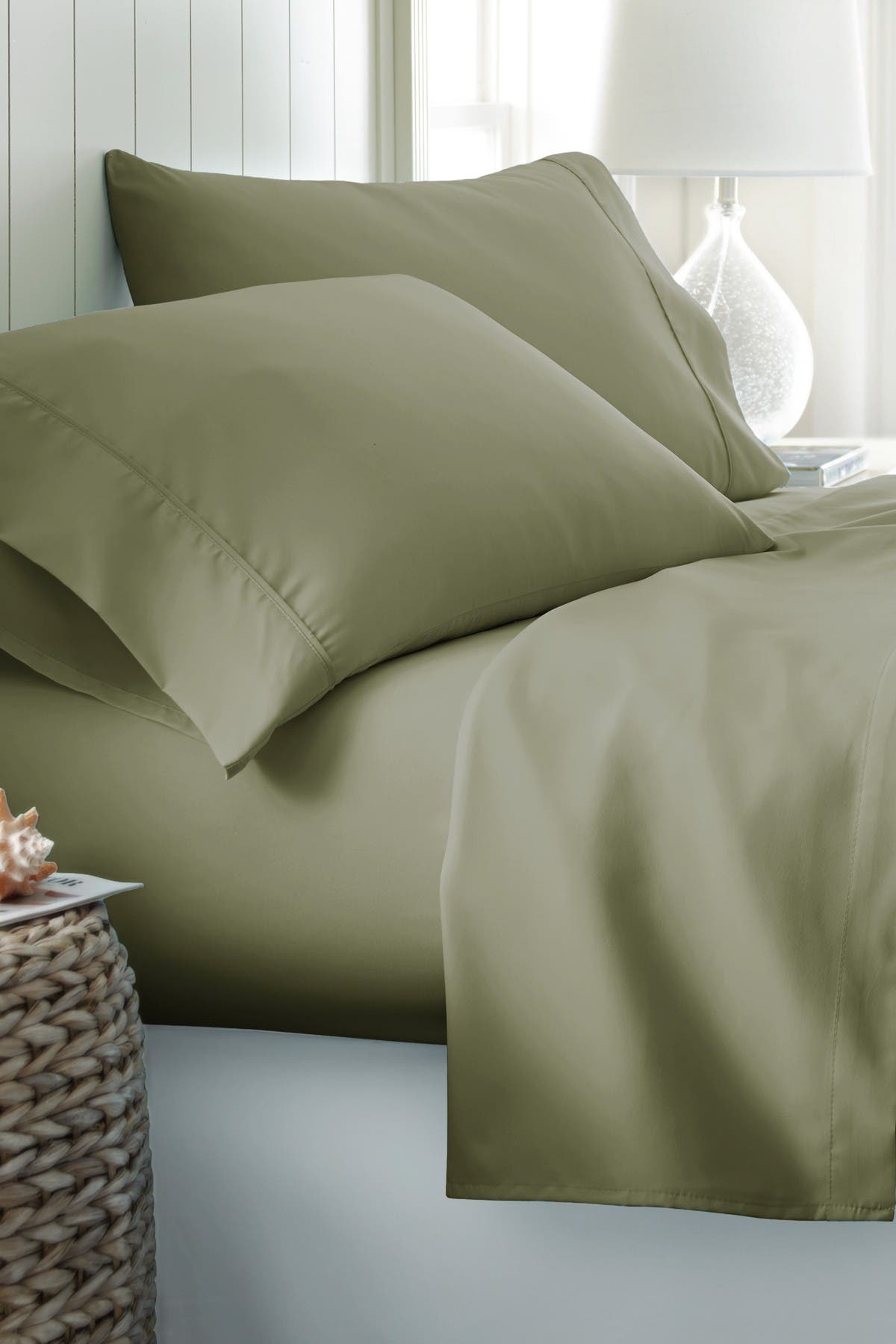 Image of IENJOY HOME Twin-XL Hotel Collection Premium Ultra Soft 4-Piece Bed Sheet Set - Sage