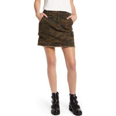 Bp. Cargo Denim Miniskirt, Green