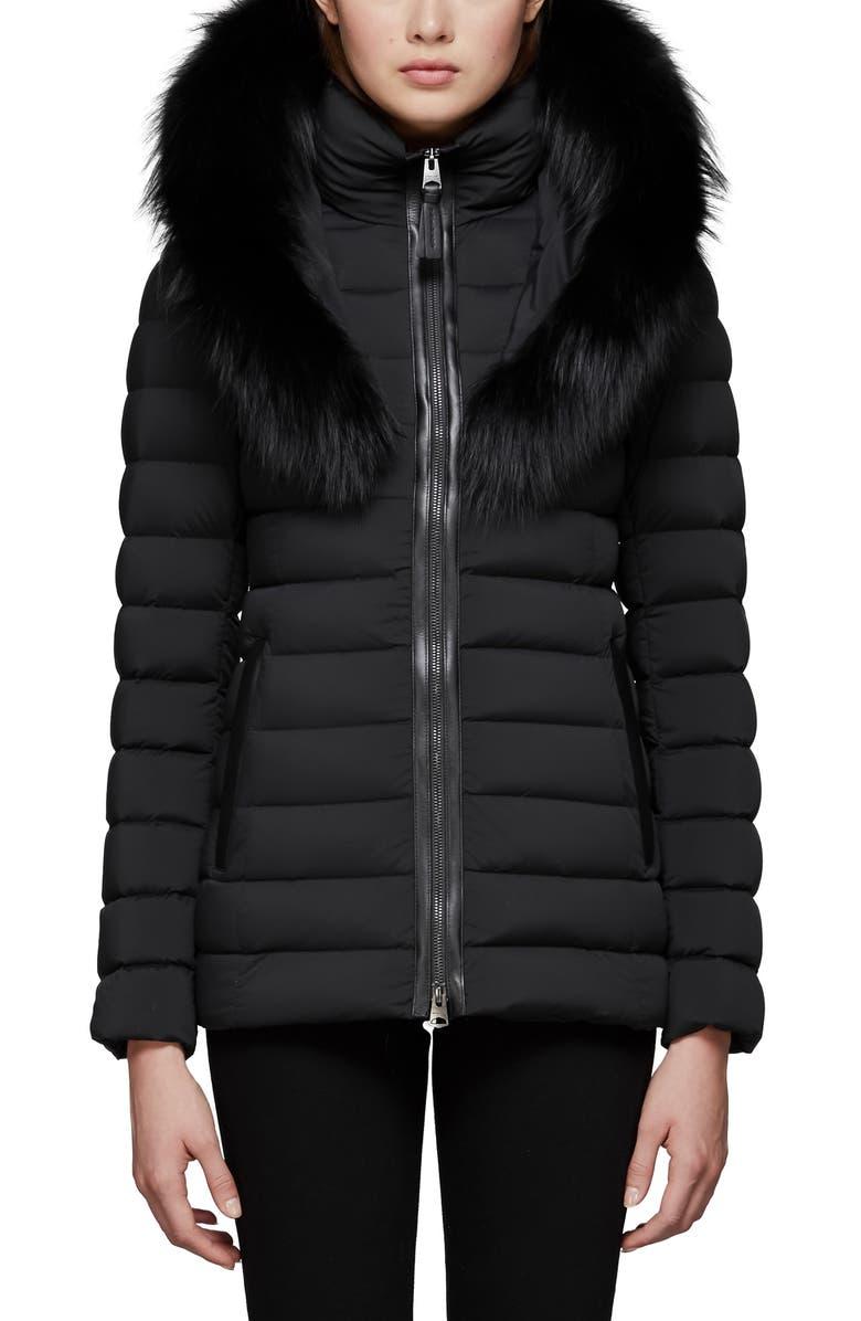 6b284c8a5 Kadalina Down Jacket with Genuine Fox Fur Trim