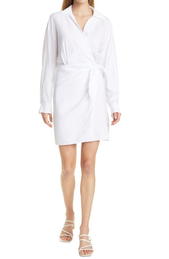 Vince Clothing WRAP FRONT LONG SLEEVE SHIRTDRESS
