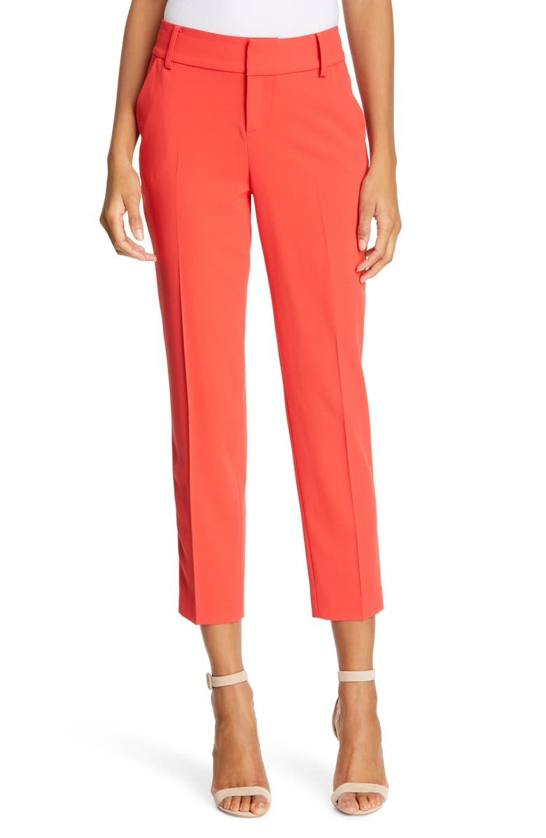 ALICE + OLIVIA Stacey Slim Trousers, Main, color, 950