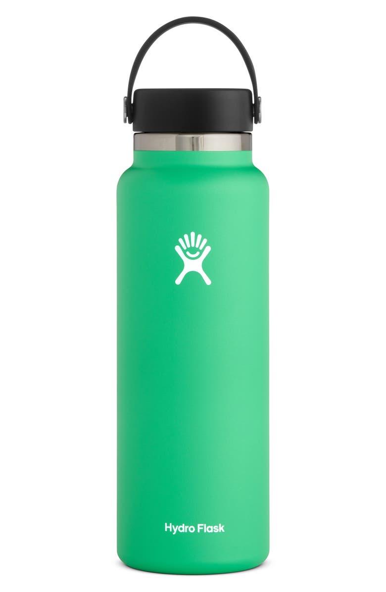 HYDRO FLASK 40-Ounce Wide Mouth Cap Bottle, Main, color, SPEARMINT