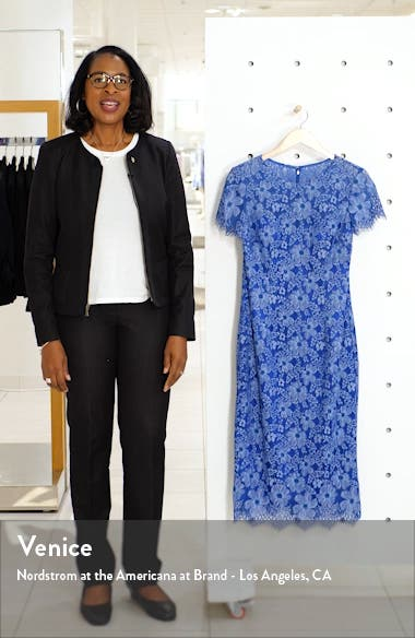 Floral Lace Cocktail Dress, sales video thumbnail