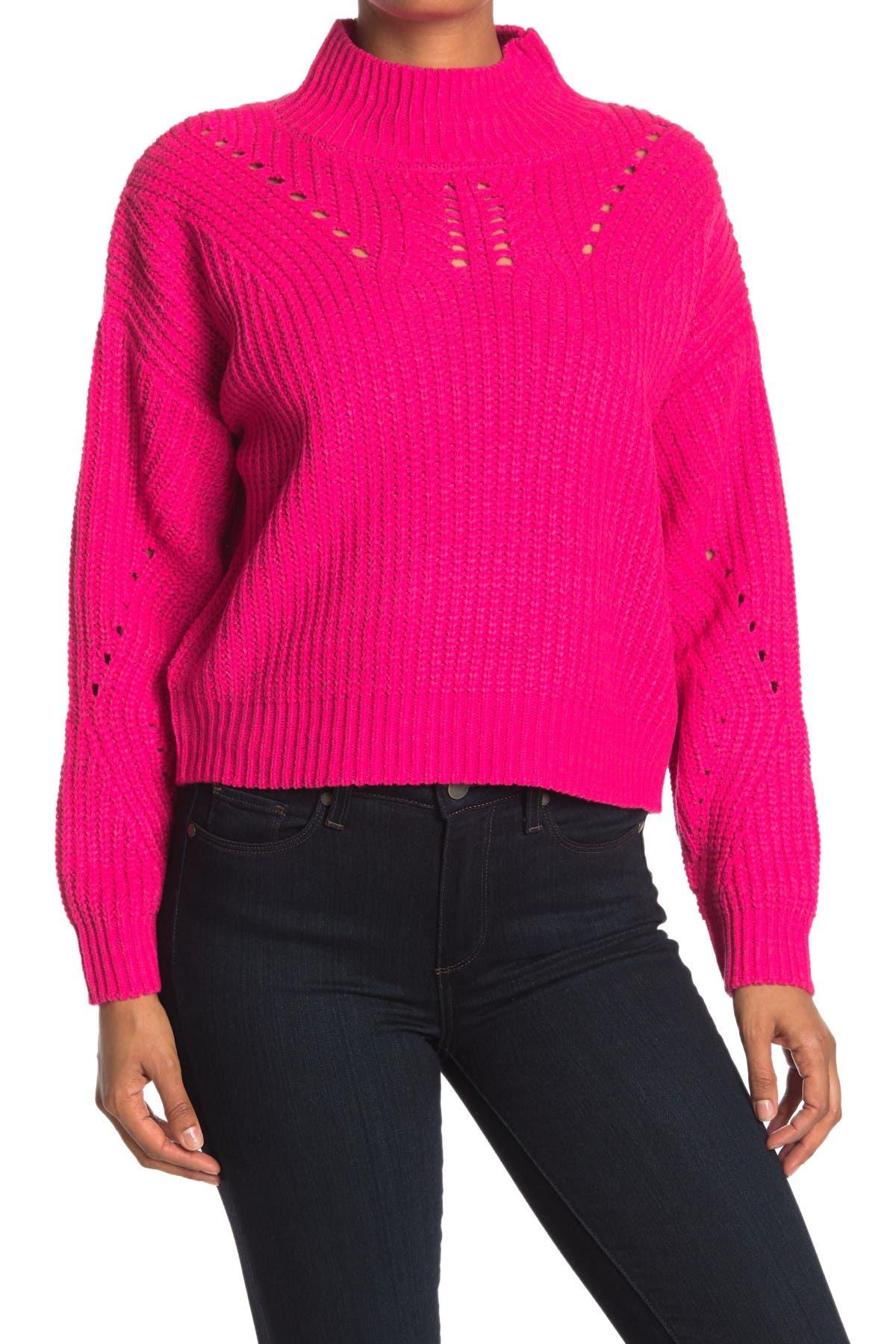 Image of BLANKNYC Denim Mock Neck Sweater