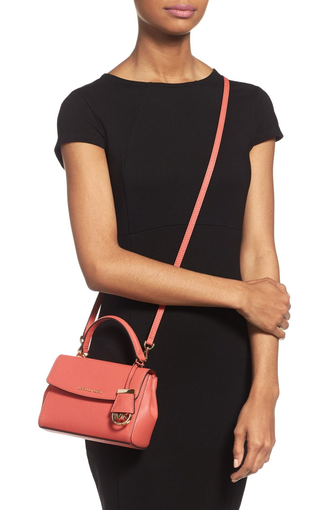 ,                             'Extra Small Ava' Leather Crossbody Bag,                             Alternate thumbnail 23, color,                             651