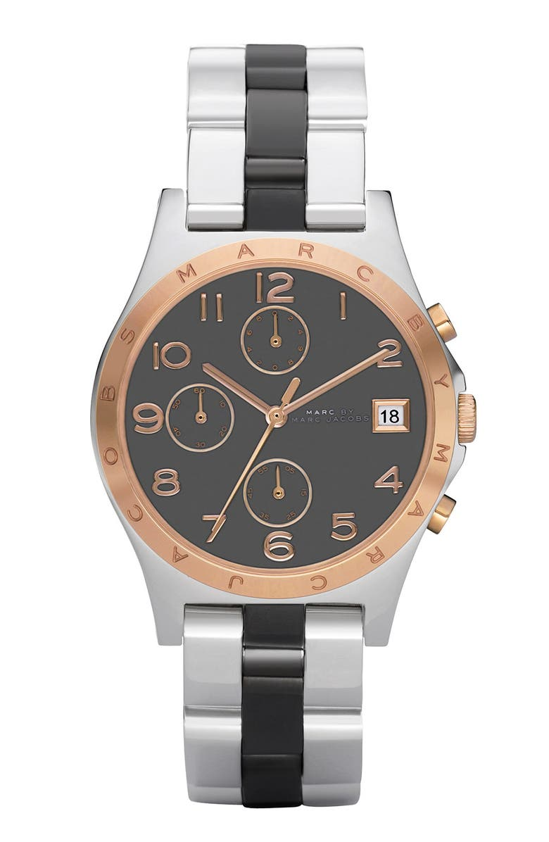 MARC JACOBS 'Henry' Two-Tone Chronograph Watch, Main, color, 020