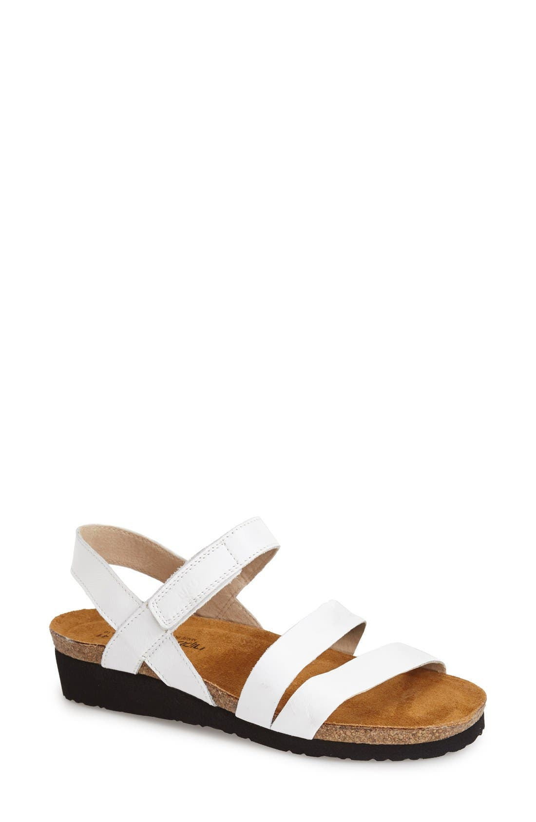 Clean-cut straps style a versatile, comfortable sandal with memory-foam padding and a cushy EVA sole. Style Name: Naot \\\'Kayla\\\' Sandal (Women). Style Number: 591927. Available in stores.