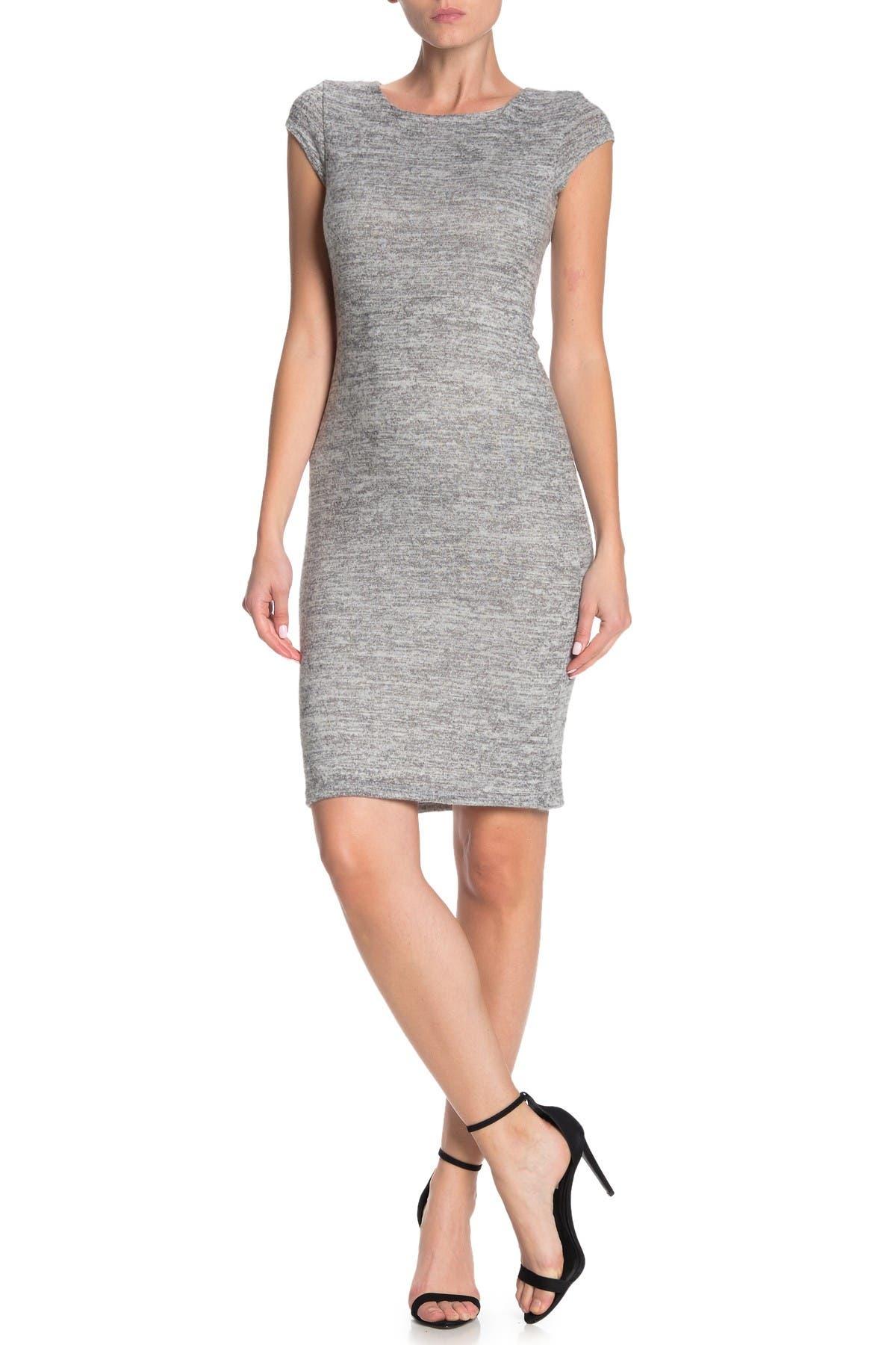 Image of Velvet Torch Brushed Cap Sleeve Bodycon Dress