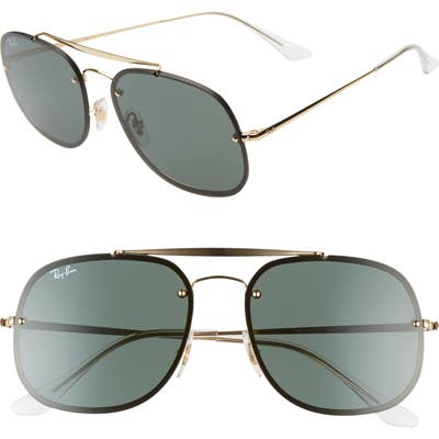 Ray-Ban 5m Square Aviator Sunglasses - Gold