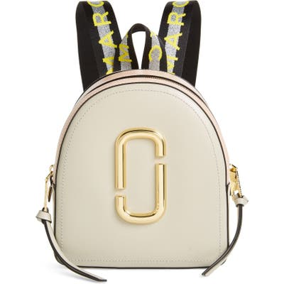 Marc Jacobs Pack Shot Leather Backpack - Ivory