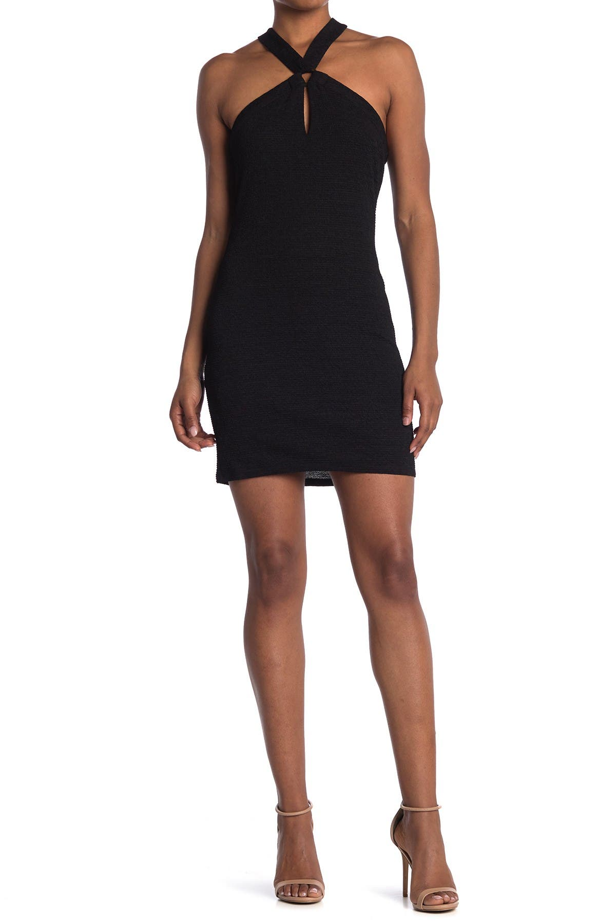 Image of BCBGeneration Halter O-Ring Bodycon Dress