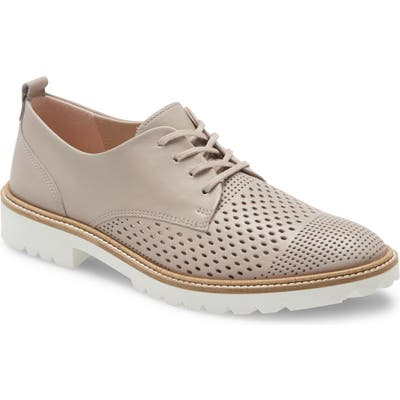 Ecco Incise Perforated Derby, Grey