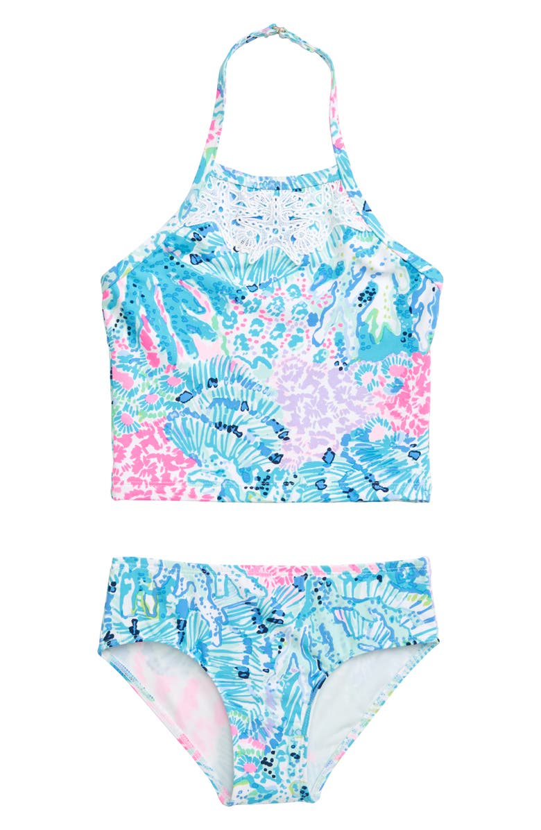 LILLY PULITZER<SUP>®</SUP> Kinley Two-Piece Swimsuit, Main, color, 400