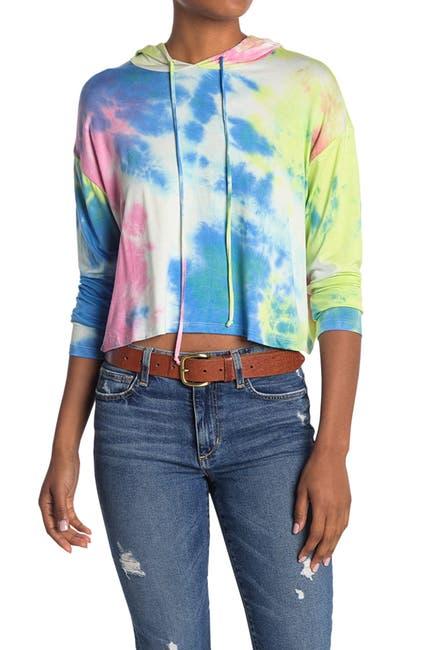 Image of Lush Tie Dye Print Pullover Hoodie
