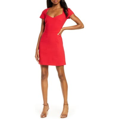 French Connection Whisper A-Line Dress, Red