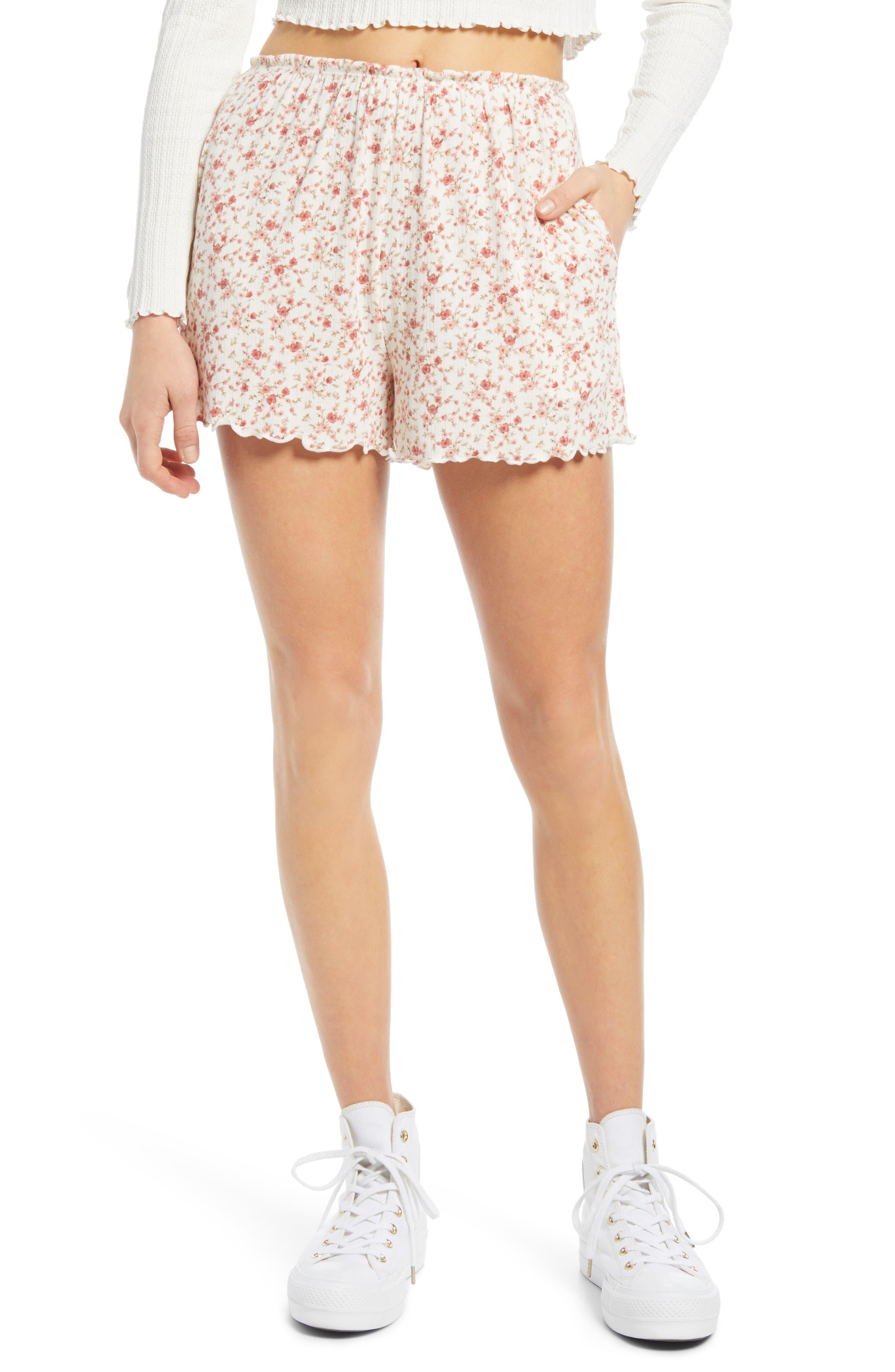 Pointelle Lettuce Hem Shorts