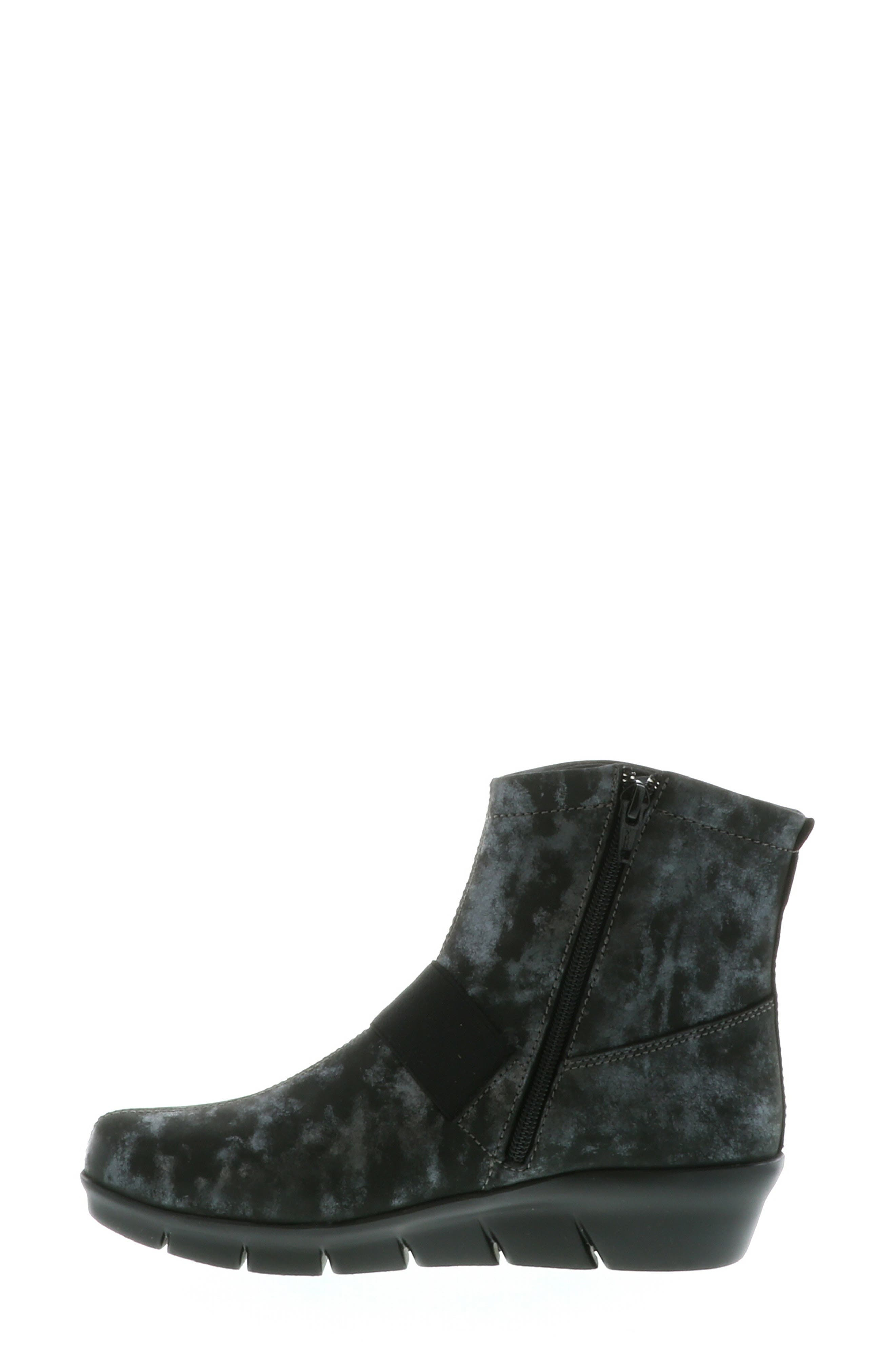 ,                             Omni Wedge Bootie,                             Alternate thumbnail 10, color,                             BLACK NUBUCK LEATHER