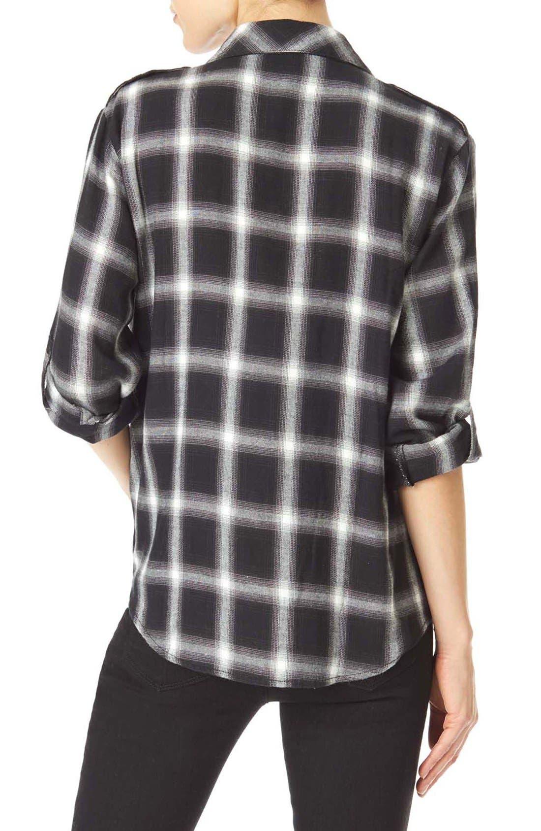 ,                             Plaid Flannel Boyfriend Shirt,                             Alternate thumbnail 4, color,                             097