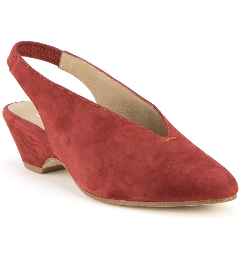 EILEEN FISHER Gatwick Slingback Pump, Main, color, WINE SUEDE