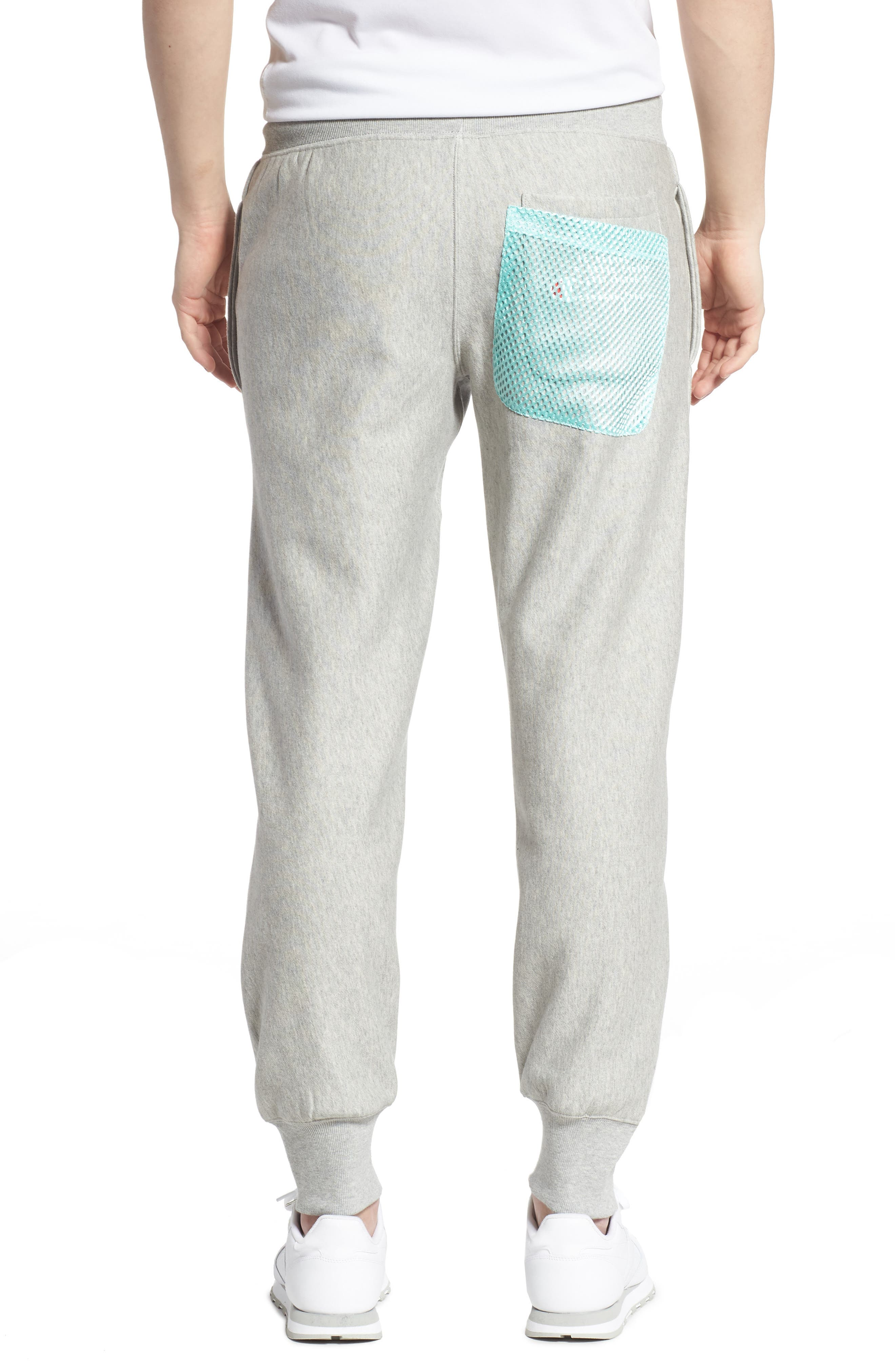 ,                             Reverse Weave Shift Sweatpants,                             Alternate thumbnail 2, color,                             OXFORD GREY/ WATERFALL GREEN