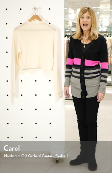 Cashmere & Wool Crop Roll Neck Sweater, sales video thumbnail