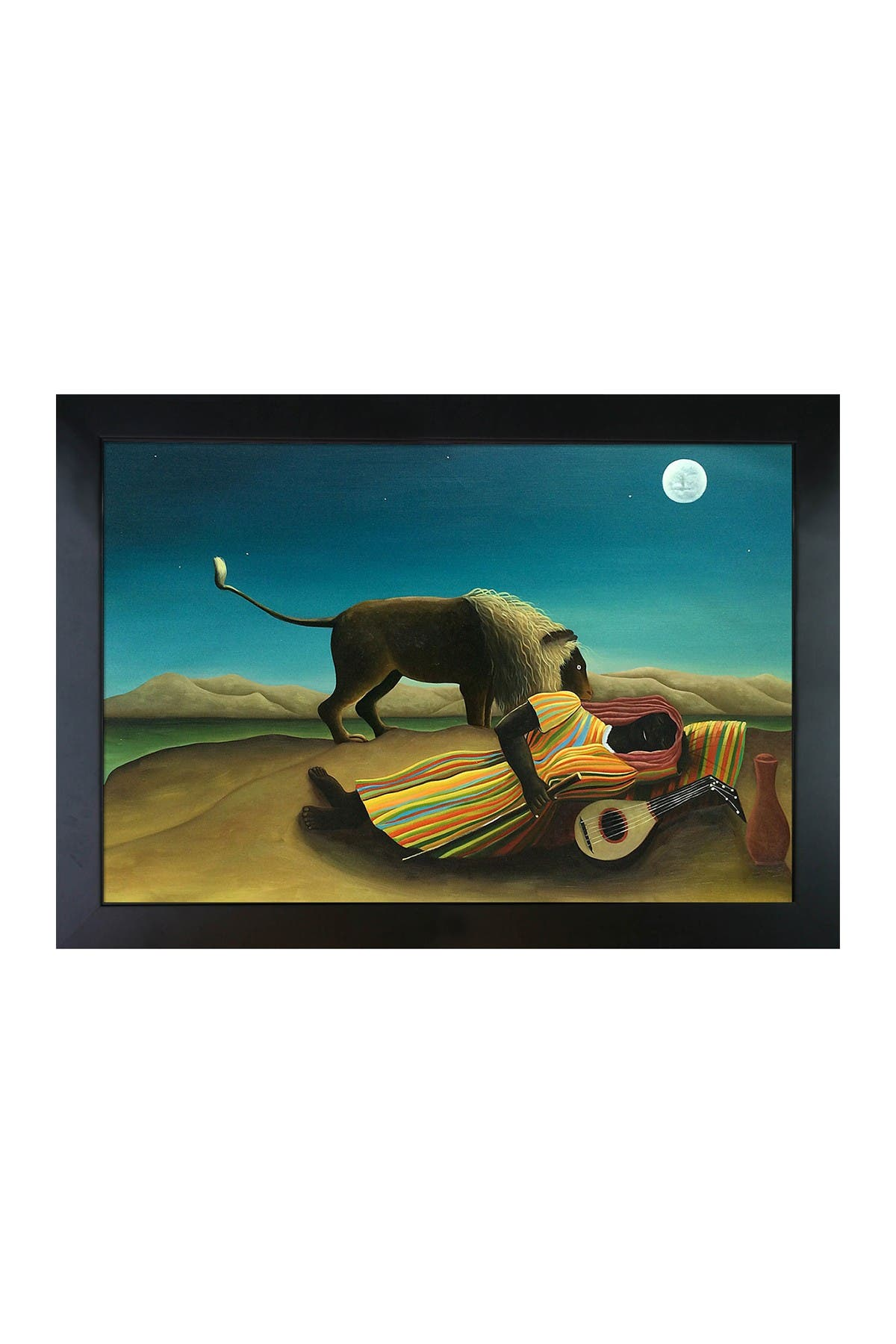 The Sleeping Gypsy - Framed Oil reproduction of an Original Painting by Henri Rousseau at Nordstrom Rack
