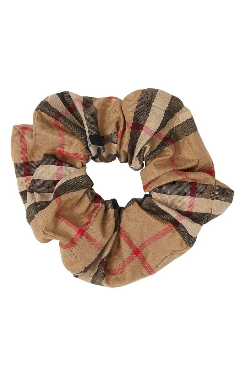 BURBERRY Vintage Check Scrunchie, Main, color, ARCHIVE BEIGE