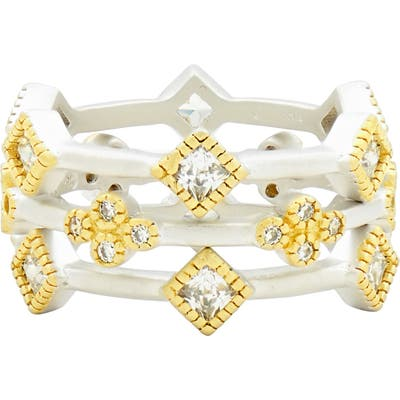 Freida Rothman Fleur Bloom Set Of 3 Stacking Rings