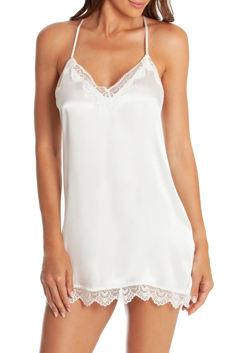 IN BLOOM BY JONQUIL Glisten Chemise, Main, color, OFF-WHITE