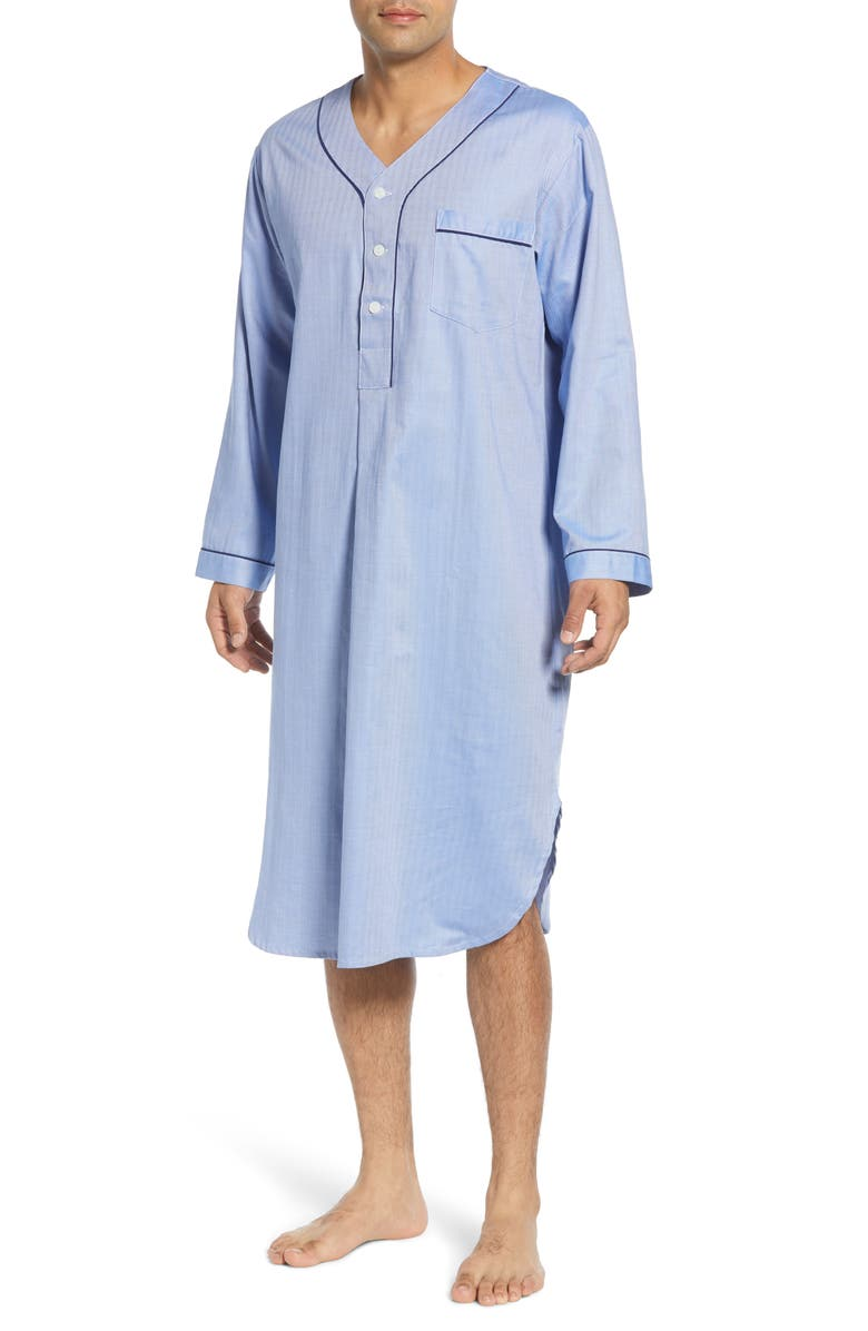 MAJESTIC INTERNATIONAL 'Signature' Cotton Nightshirt, Main, color, BLUE