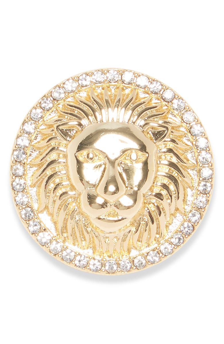 VINCE CAMUTO Lion Head Pin, Main, color, GOLD
