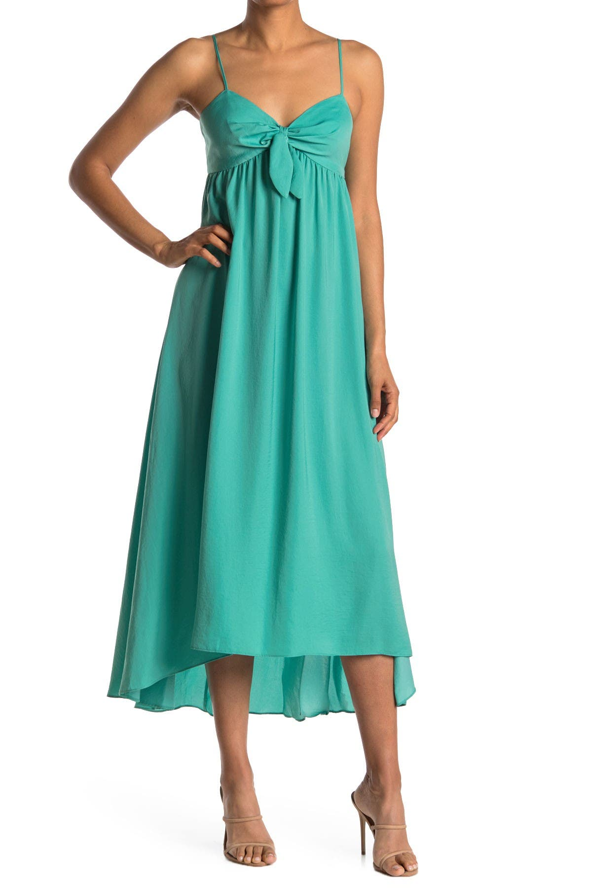 Image of London Times Bow Neck High/Low Dress