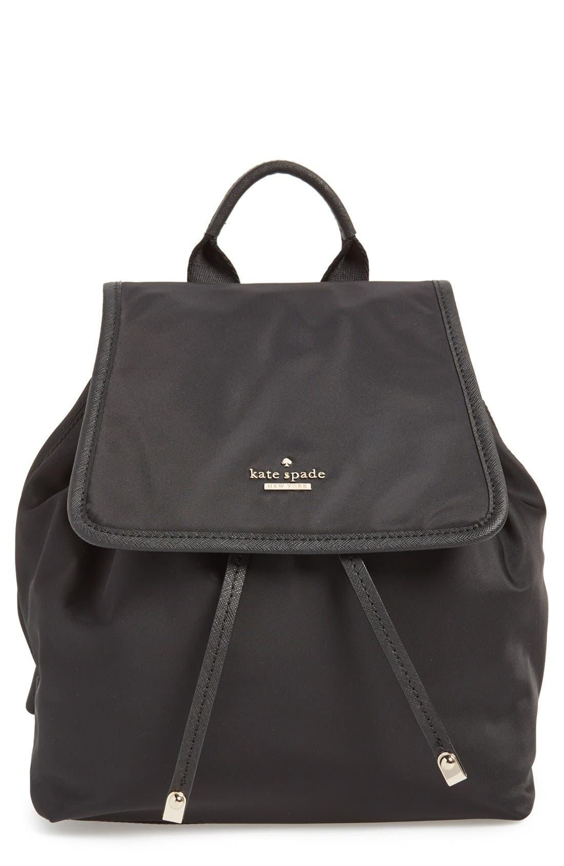 'molly' nylon backpack, Main, color, 001