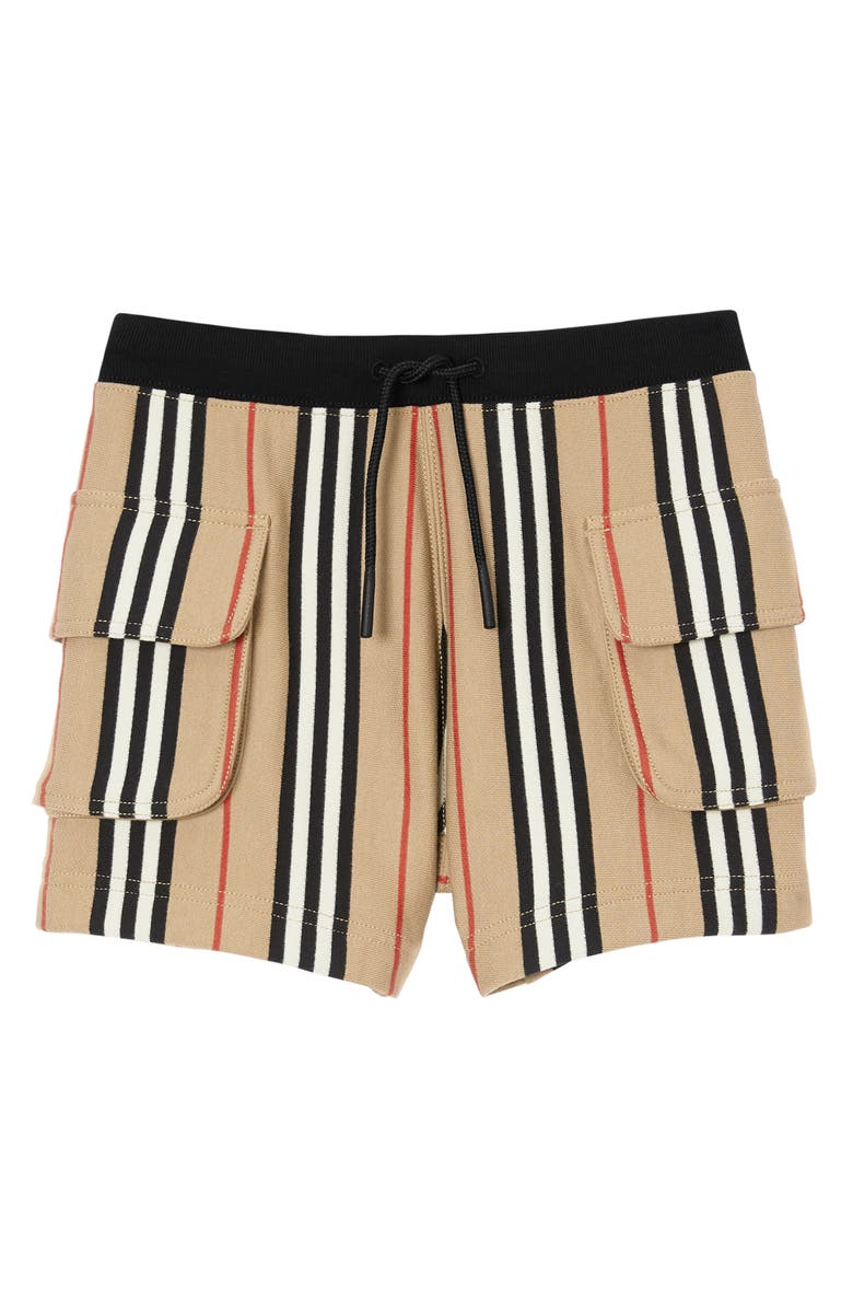 BURBERRY Ines Icon Stripe Shorts, Main, color, ARCHIVE BEIGE