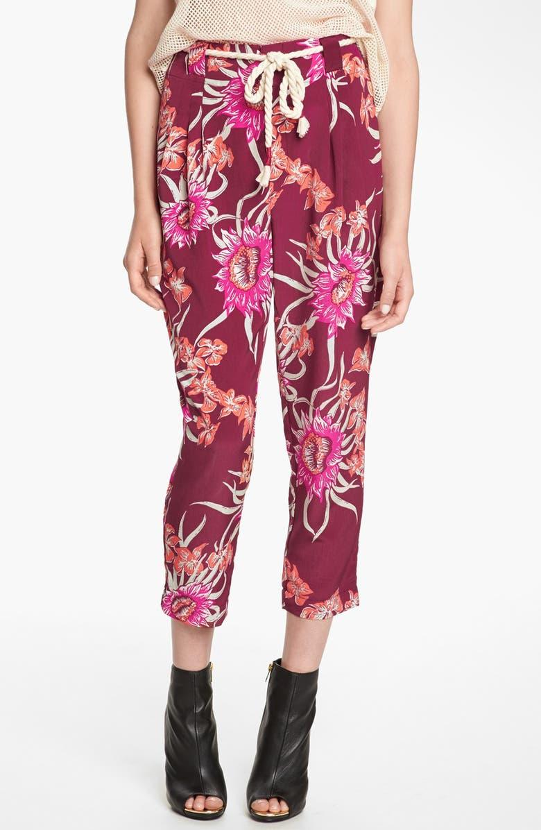 VIVA VENA! Floral Pleated Pants, Main, color, 930