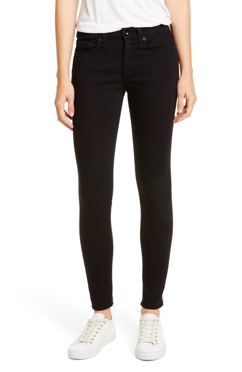 RAG & BONE Cate Skinny Jeans, Main, color, NO FADE BLACK