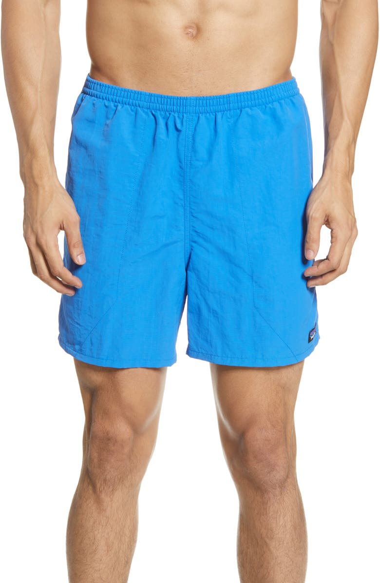 PATAGONIA Baggies 5-Inch Swim Trunks, Main, color, BAYOU BLUE
