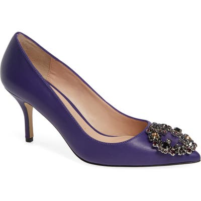 Charles David Anina Crystal Embellished Pump- Purple