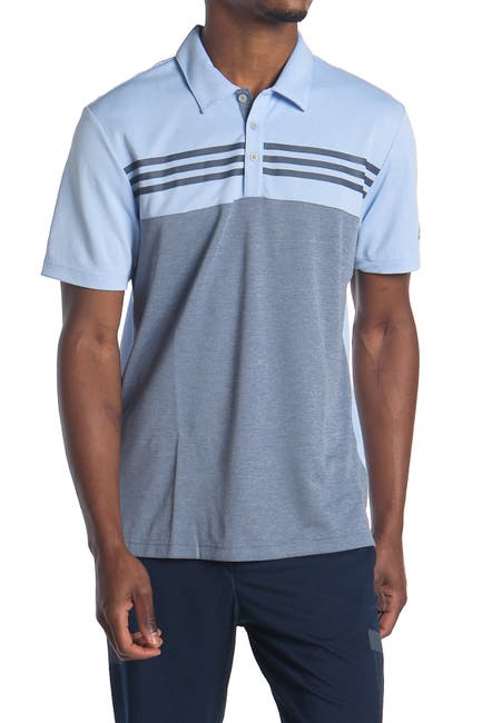 Image of adidas Heather Color Block Golf Polo