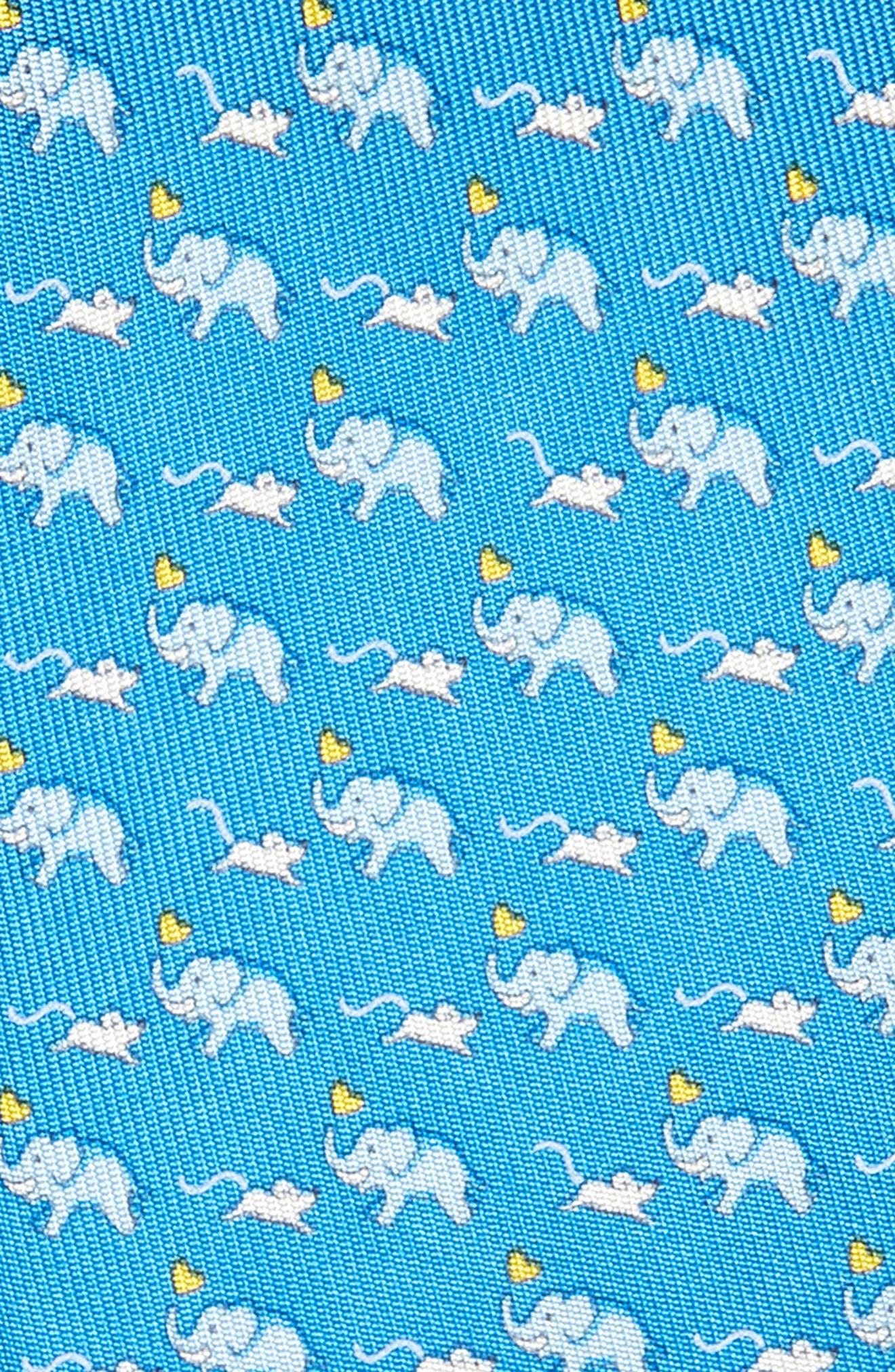 ,                             Gerry Print Silk Tie,                             Alternate thumbnail 2, color,                             ROYAL BLUE/ YELLOW