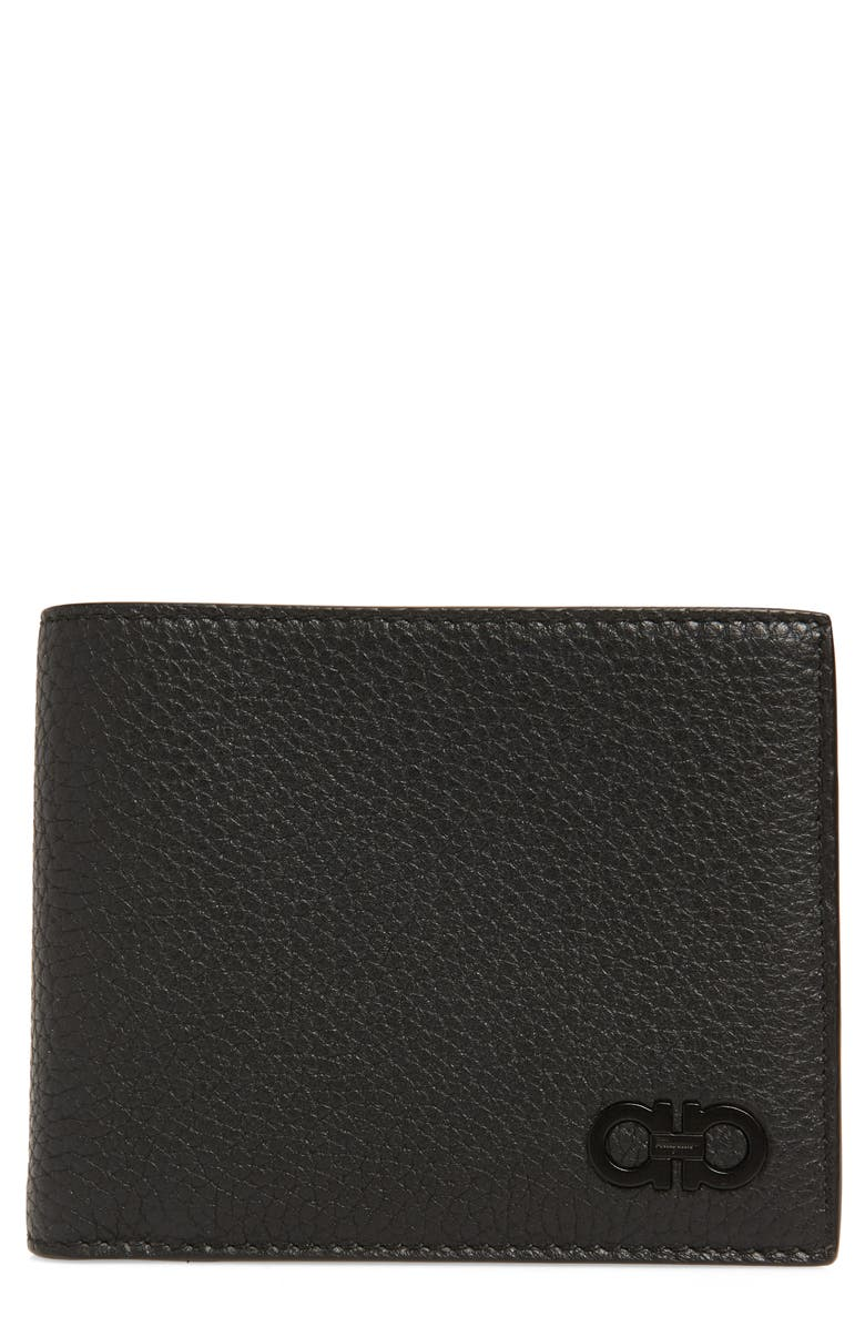 SALVATORE FERRAGAMO Firenze Leather Wallet, Main, color, NERO