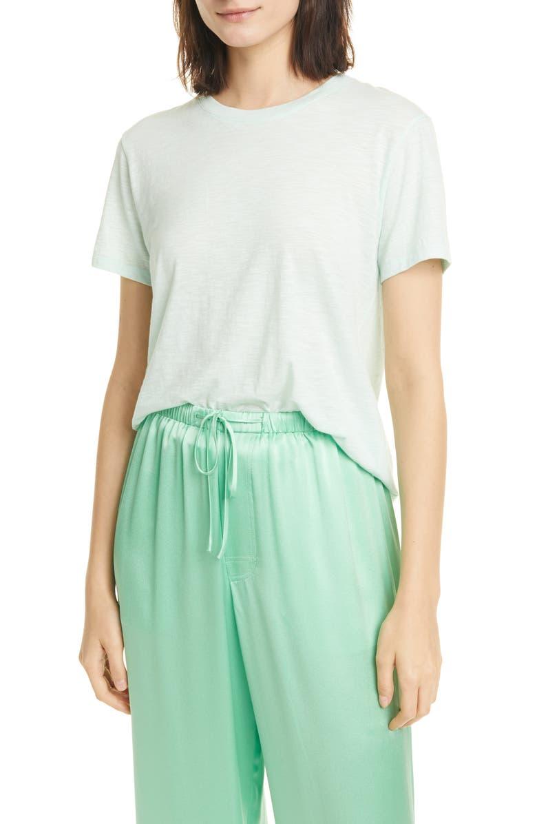 VINCE Short Sleeve Pima Cotton T-Shirt, Main, color, SEA FOAM