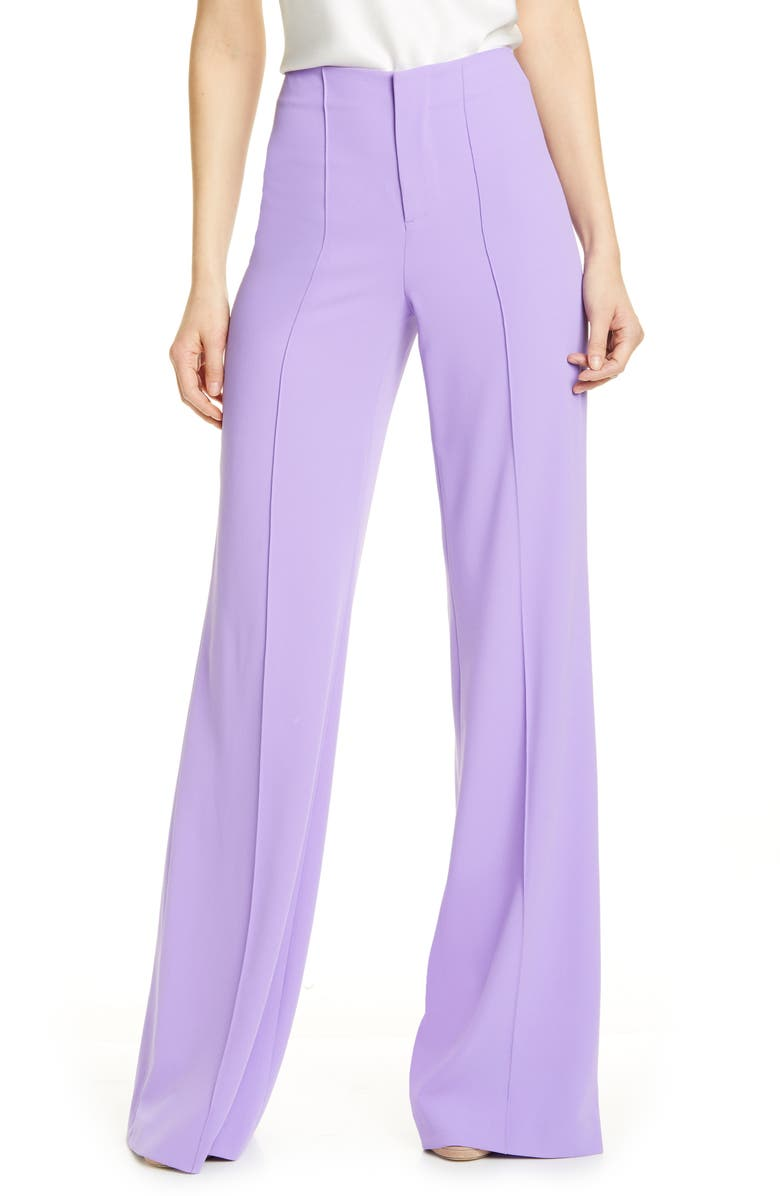 ALICE + OLIVIA Dylan Clean High Waist Wide Leg Pants, Main, color, 500