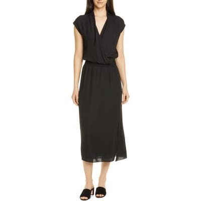 Theory Silk Midi Dress, Black