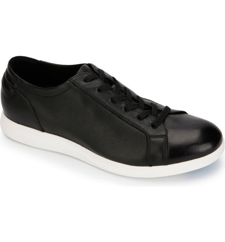 KENNETH COLE NEW YORK Rocketpod Sneaker, Main, color, BLACK TUMBLED LEATHER