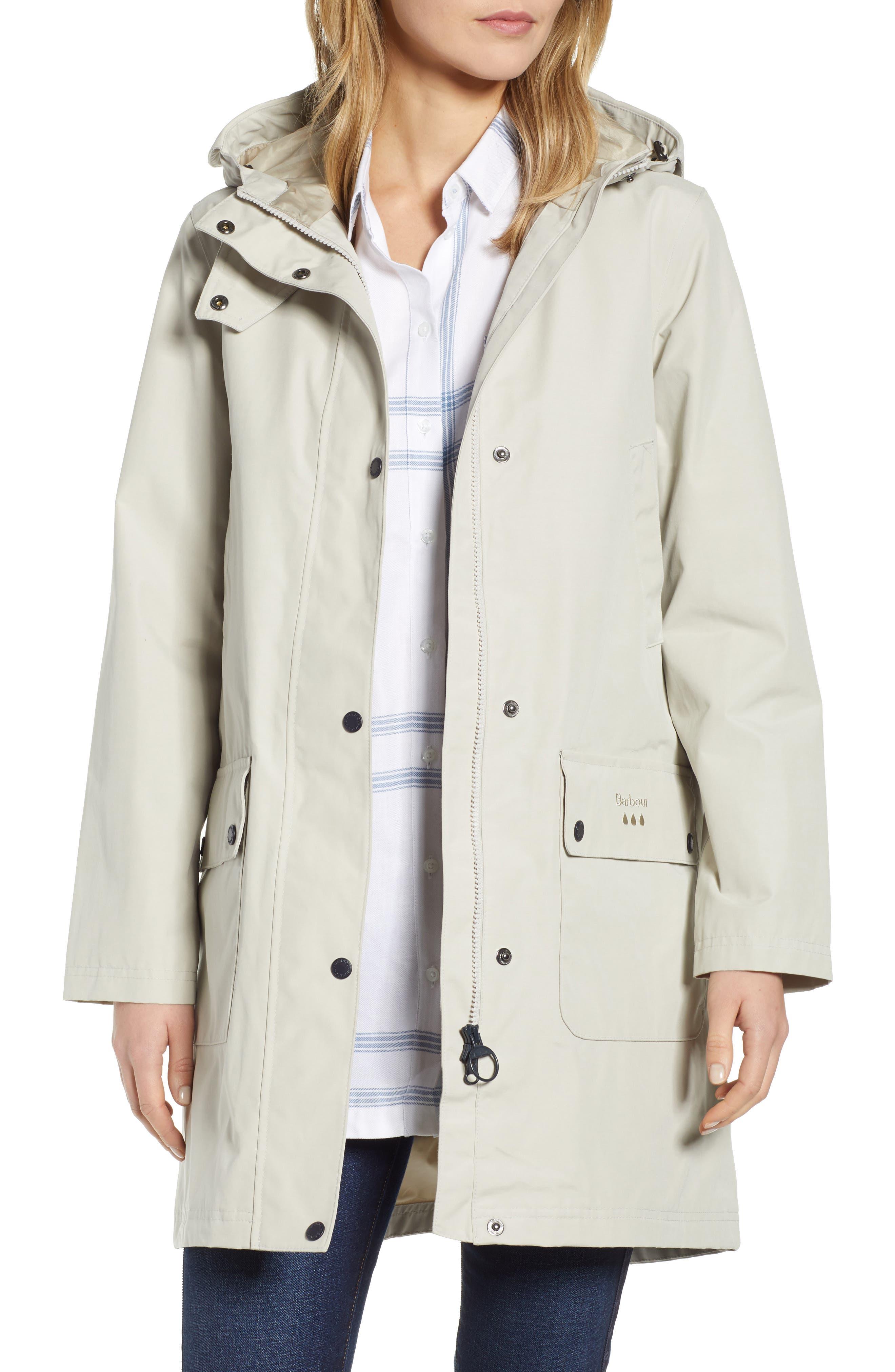 Barbour Barogram Waterproof Hooded Jacket, US / 16 UK - Grey